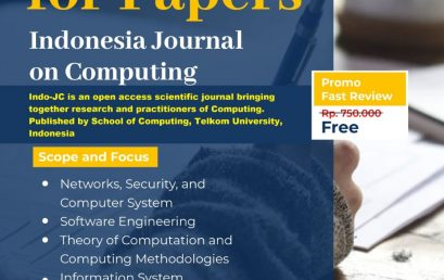 Call for Papers 2021 Indonesia Journal of Computing (Indo-JC)